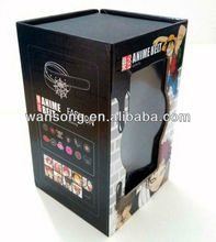 Fashion magnet paper packaging gift box with clear pvc window