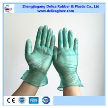 Disposable Green Vinyl Gloves PVC Powder And Powder Free For Medical Food Industrial