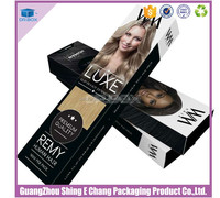 New arrival Retangular Elegant Design Personalized custom hair packaging