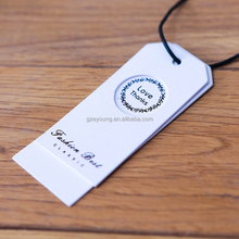 paper custom tag t-shirt garment hang tags printed design