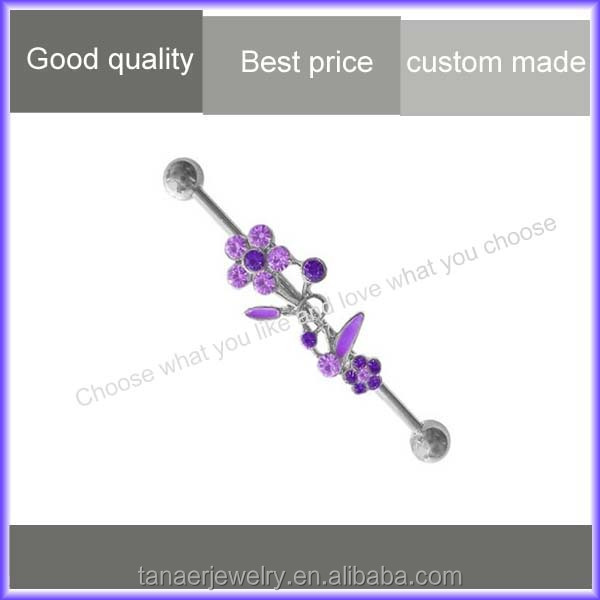 Beautiful wholesale fake industrial piercing jewelry