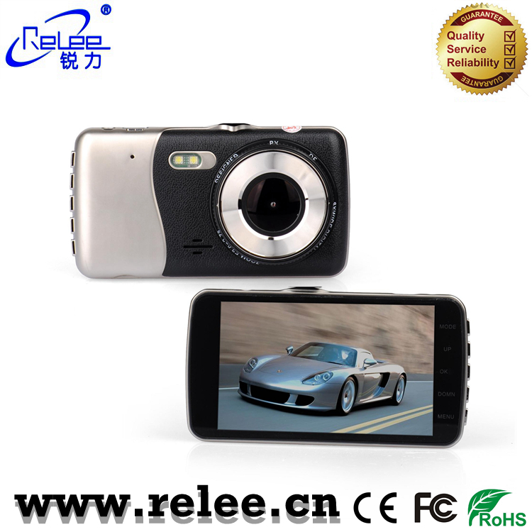 4inch FHD reverse car camera night vision backup car camera with two lens