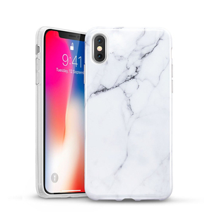 2018 New Product!!!Slim Soft Flexible TPU Marble Pattern Cover Case for Apple iPhone X Support Wireless Charging