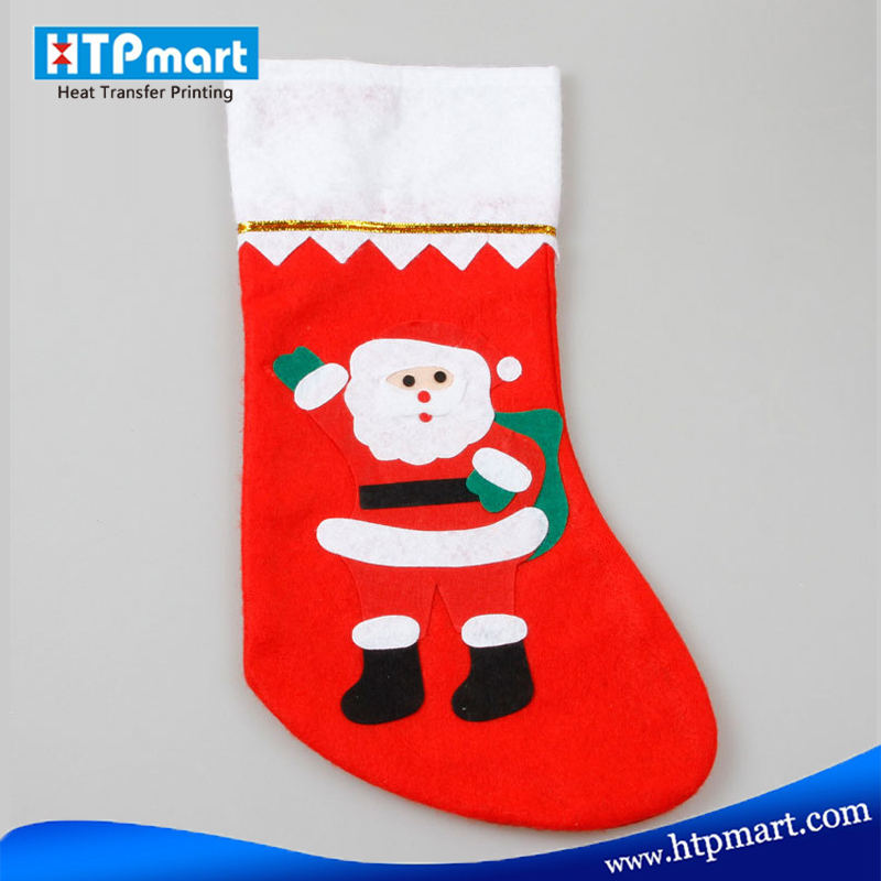 Sublimation Christmas Santa Socks Christmas Socks Decorative Christmas Stocking