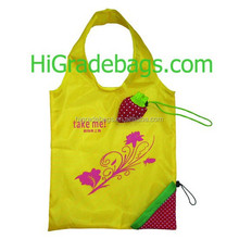 2016 folding eco strawberry shopping bag