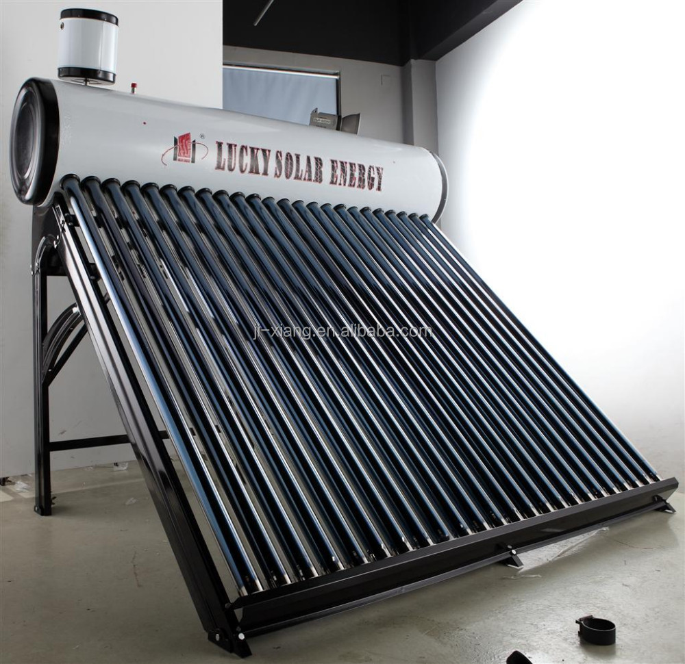 Pre-Heater Pressurized System mini projects solar evacuated tubes water heater with Copper coil