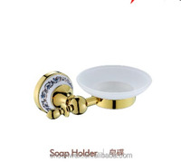 Euro Style Golden Zinc Alloy Bathroom Accessories Soap Holder Soap Dish for Bathroom Fitting