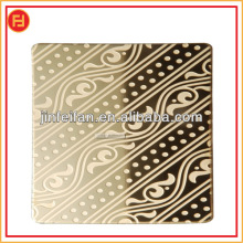designed acid patterns color mirror/ mirror etching stainless steel sheets