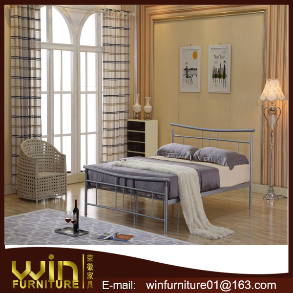 simple iron double bed design for sale
