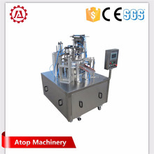 Mini cup filling and sealing packing machine for coffee creamer