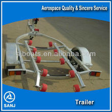 SANJ long sports boat trailers with low price for sale