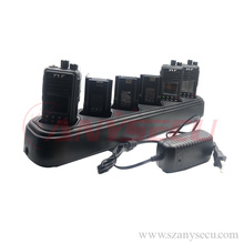military walkie talkie Six way super universal desktop charger 15V forbatteries for tyt md-380 MD 380 md380 walkie talkie