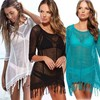 2016 hot selling euro plain beach wholesale crochet blouse beach wear