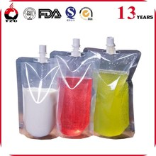 bpa free plastic energy drink bag spout pouch