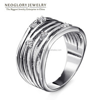 Neoglory Personalized Exquisite Design Rhinestone Wedding Womens Rings Platinum Plated Wholesale 2015 New