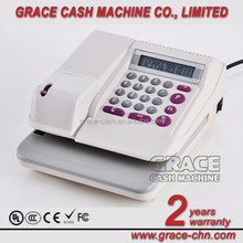 Up to 5 currencies automatic cheque writer