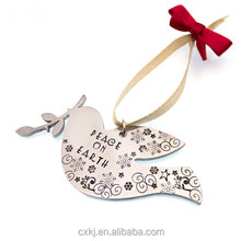 fiber Laser engrave and cut metal pigeon dove bird craft ornaments gift for festive commemorative customized craft