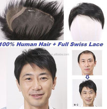 New products human hair piece All Swiss Lace Toupee for men