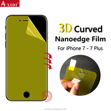 lcd display panels curved protector for iphone7 plus nanoedge explosion proof curved cover screen