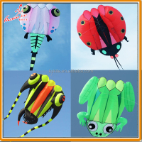 Pilot kite, Lifter, large show kite, TRILOBITE, FROG, LADYBUG,TADPOLE from Kite factory