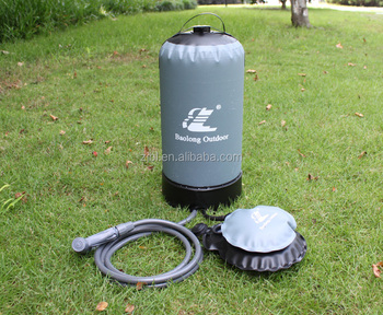 innovative pump regulated solar portable camping hot water shower