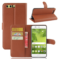 Lichee Pattern PU Leather Flip Wallet Case Cover For Huawei P10 Plus