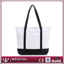 Wholesale Personalized Zipper Canvas Tote Monogram Boat Bags