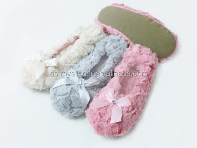 cheap selling woman plush soft dance shoes slippers