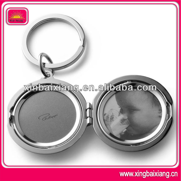 High quality custom metal photo frame keychain