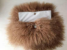 Y.ROGUSA Brand YR1004 Fashion women Genuine Mongolia Fur Handbag Luxury Tibet lamb Fur clutch bag