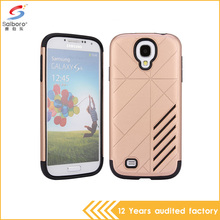 Top quality hot selling tpu+pc hybrid armor shockproof phone cover for samsung galaxy s4 case