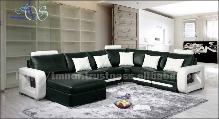 Classical Drawing Room Leather Sofa