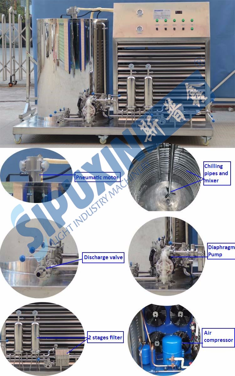 China manufacturer 500L perfume mixer/ Chiller/ Filter, 3 in 1 perfume making machine
