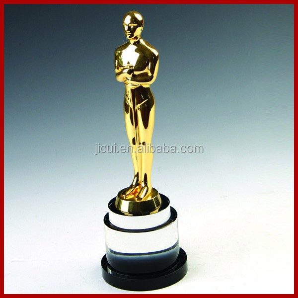 Wholesale Replica buy metal oscar trophy with crystal base