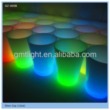 effective pattern water liquid activated led flash glass cup