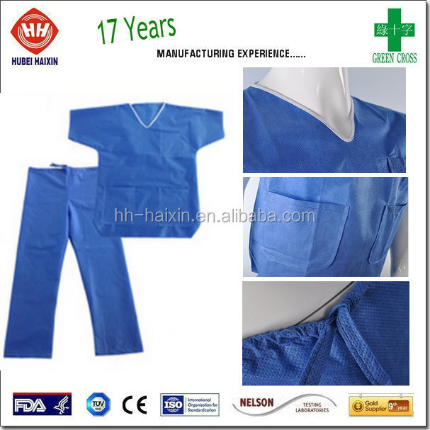 Disposable Medical Patient Pyjamas Overalls For Adult