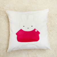 Cute Rabbit design Applique and Embroidery Cushion, Decorative cushion cover