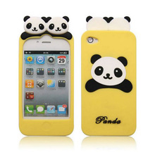 Yellow color panda 3d cell phone case for iphone and samsung
