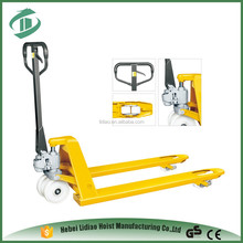 Top Quality BF rubber wheel hand forklift 2000KG pallet jack weight capacity