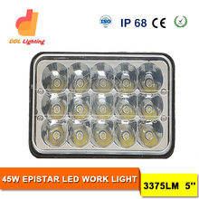 45W 3X5 inch LED Work Lights 12V 24V LED Auto Light Tractor Work Light