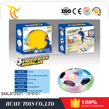New arrival air hover football Air Powered Electric Soccer Football Disc Ball Toy WithLED Lights