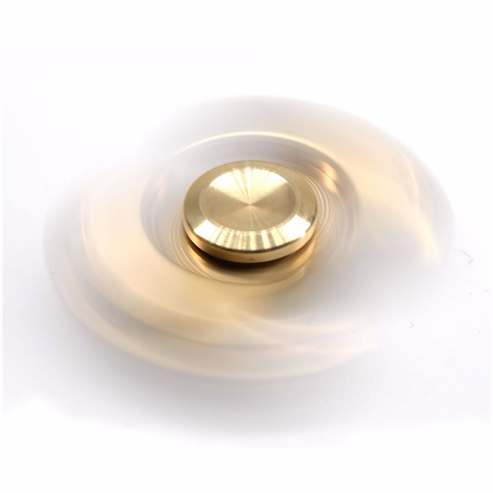 Fidget Spinner Stress and Anxiety Relief Toy Brass Copper Hand Spinners