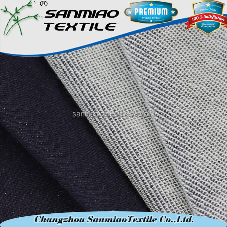 factory low prices indigo knitted denim jeans fabric for sweater