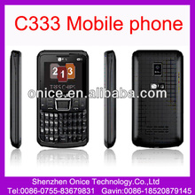 Triple sim card mobile phone C333 full qwerty keyboard cameras support torch MP3 MP4 player