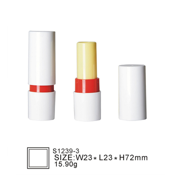 Oubolai brand S1239-3 wholesale custom design round empty white cosmetic tube plastic container make your own lipstick tube
