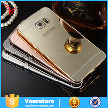 High quality new design aluminum metal bumper mirror case for samsung galaxy j7