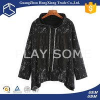 China cheapest high quality black printed japan style hoodies