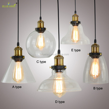 New creative American loft vintage hand blown glass ball pendant lights for bar,lobby