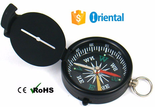 Hot Item Lock Needle Compass Keyring,Gift Compass G44-4 Multi Color Aluminum Raw Material