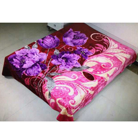 220x240 stock 2 ply polyester jacquard luxury super soft faux plush mink blankets in china